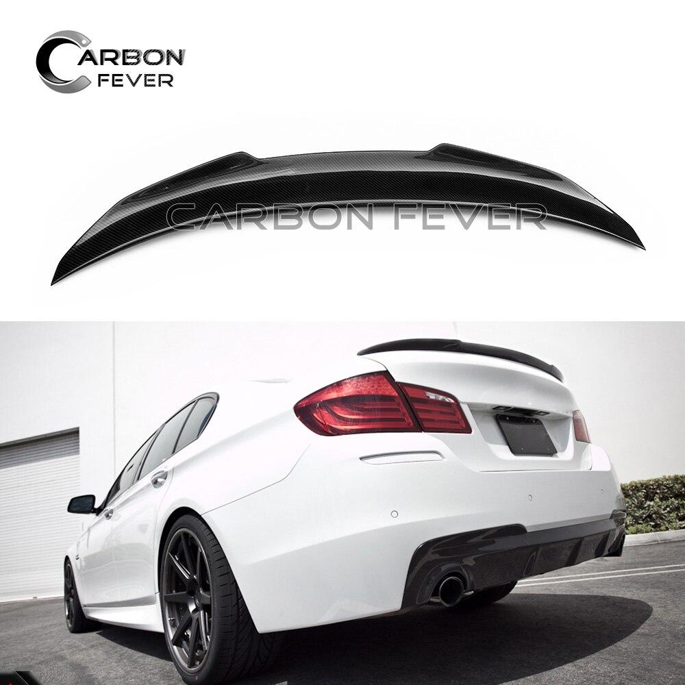 F10 углеродное волокно задний спойлер крыло для BMW 5 серии F10 & M5 седан 2010 - 2017 салон