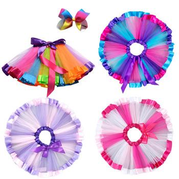 Summer Tutu Skirt Baby Girl Skirts Princess Mini Pettiskirt Dance Rainbow Unicorn Party Skirts Girls Clothes Children Clothing tanie i dobre opinie WFRV Na co dzień CN (pochodzenie) Pasuje prawda na wymiar weź swój normalny rozmiar COTTON Poliester Wiskoza Stałe