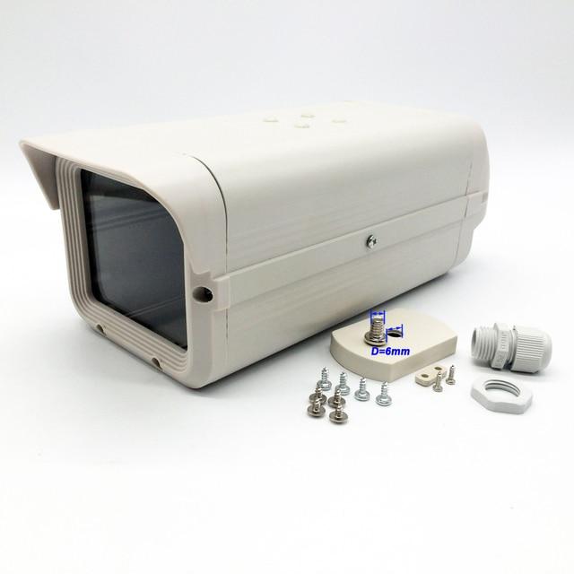 Owlcat رمادي أبيض كاميرا تلفزيونات الدوائر المغلقة صندوق واضح زجاج Suveillance الأمن حاوية الكاميرا في الهواء الطلق كاميرا شل الألومنيوم فرامل أي بي أس