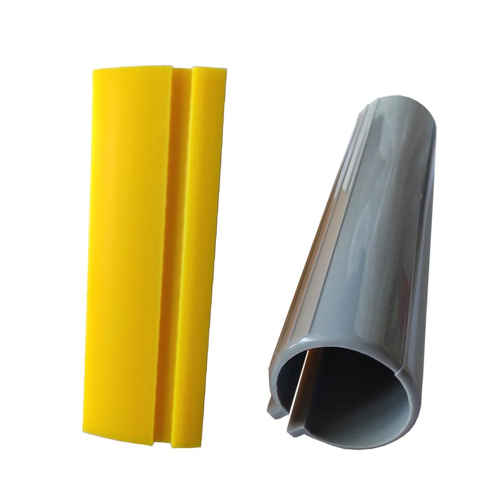 2pcs Yellow Rubber Turbo Scraper Blade for Car Window Film Tinting Cleaning Tool