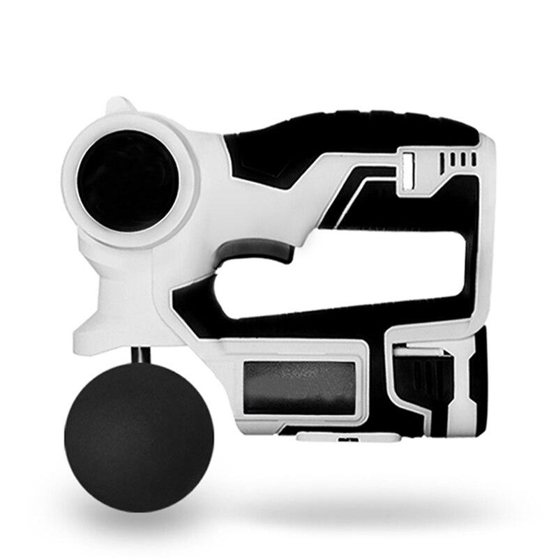 Pistola de fascia eléctrica vibración tejido masaje muscular pistola alivio del dolor relajación corporal adelgazamiento conformado 90 grados ajustable caliente