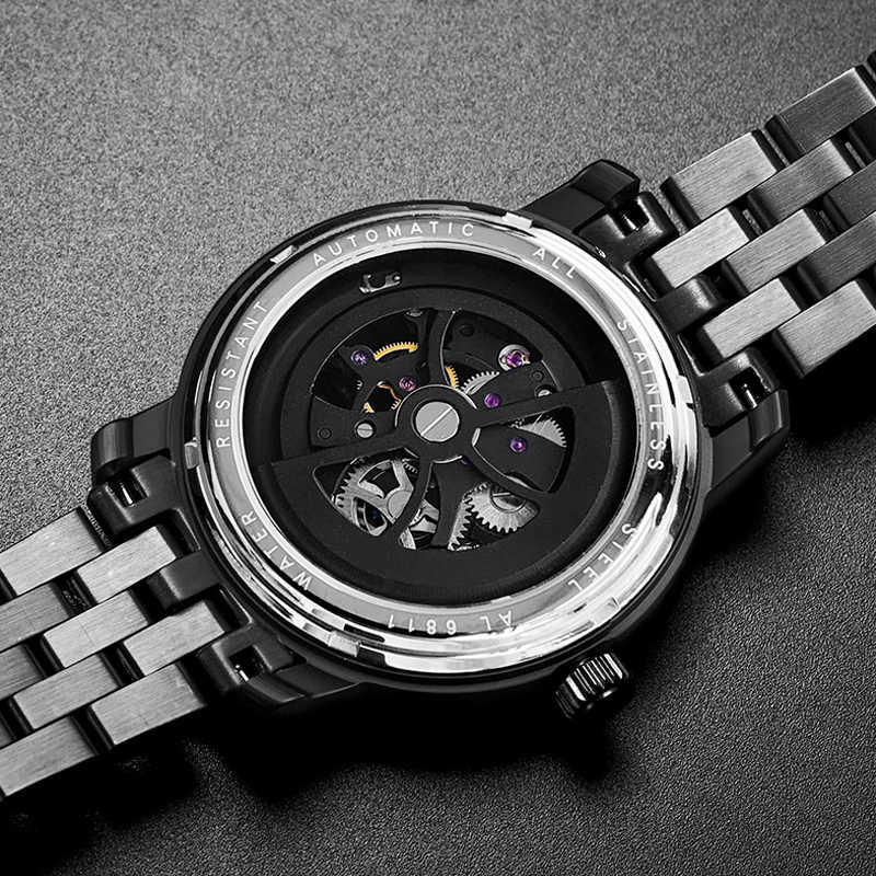 Часы AILANG, фирменный дизайн, автоматические мужские наручные часы с кожаным ремешком