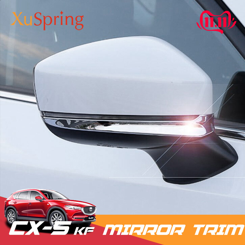 Car Rear View Mirror Protective Trim Strips Cover Stickers Garnish For <font><b>Mazda</b></font> CX-5 <font><b>CX5</b></font> 2017 2018 <font><b>2019</b></font> KF image