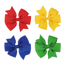 цена на For Kids Ribbon  Handmade  Grosgrain Bows  With Clips Hair Bow  Girls Boutique Children  Beautiful 1pcs Hair Accessories Printed