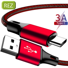 REZ USB Type C Cable to A For Sony Red Fast Charging Type-C kabel Usb Data Wire Samsung USB-C провод кабель