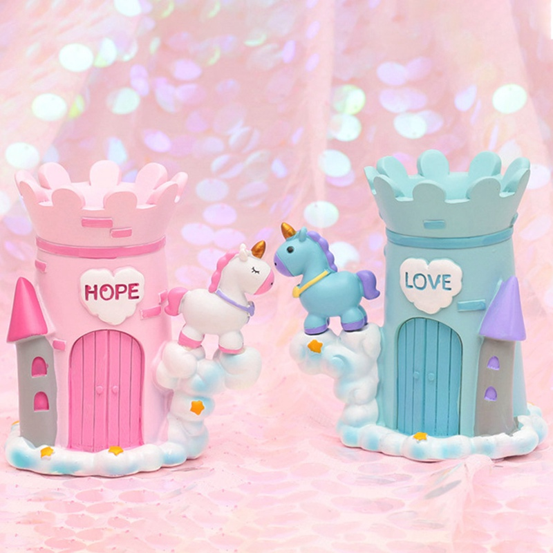 1Pcs Unicorn Pen Holder Girls Cartoon Unicorn Resin Pencil Holder As Desk Organizer For Kids Gift