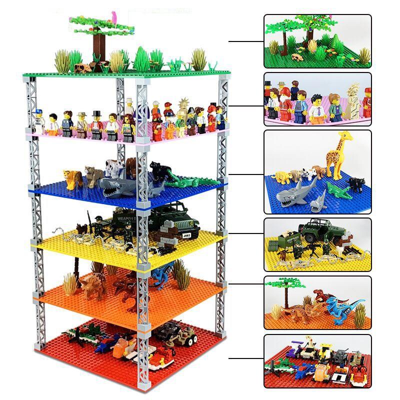 Двусторонняя составная Базовая пластина, пластиковые мелкие кирпичи, основание, классические размеры, строительные блоки, игрушки для стро...