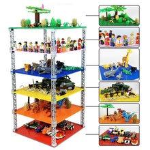 32*32 pontos dupla-face empilhável placa base de plástico pequenos tijolos baseplate clássico dimensões blocos de construção brinquedos