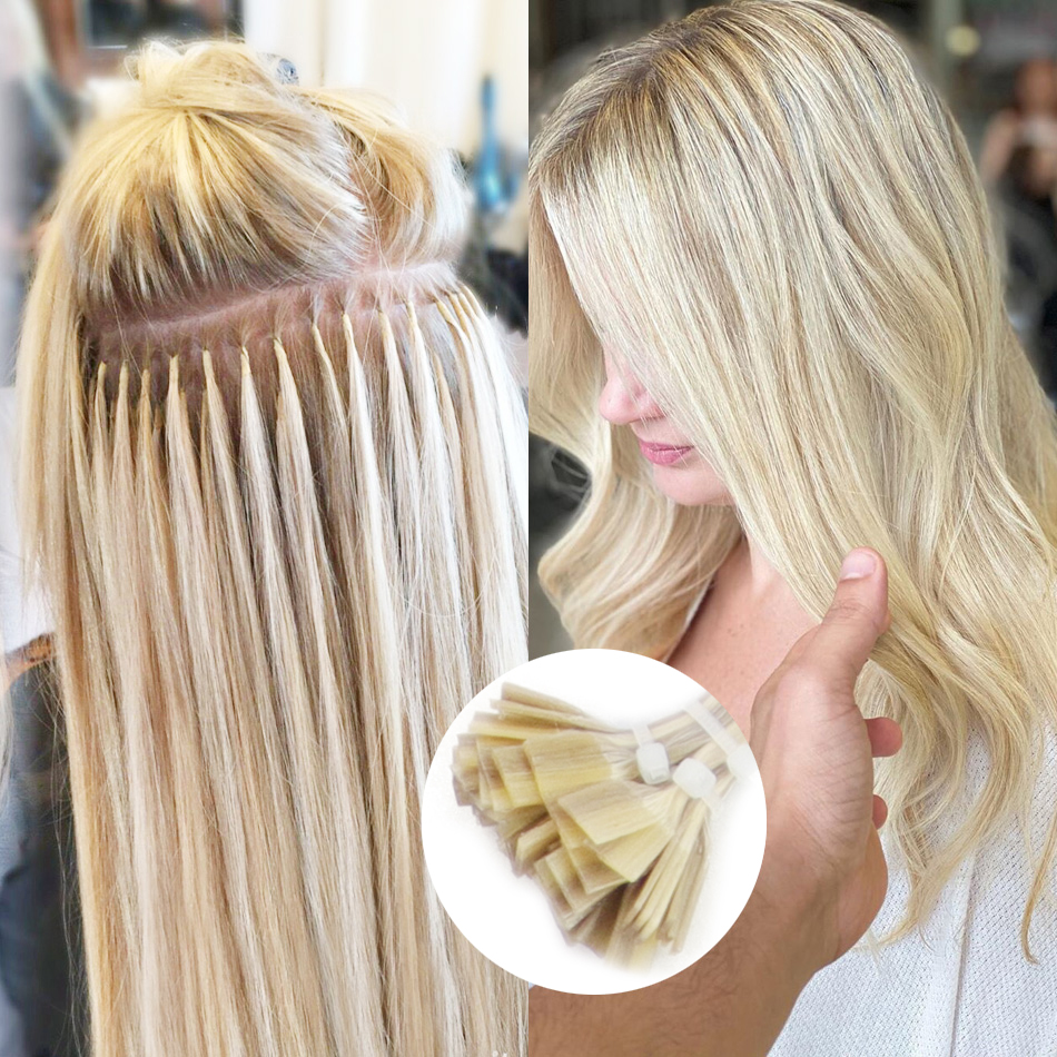 Clearance Items! Fusion Flat Tip Human Hair Extensions 14