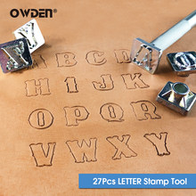 OWDEN 27Pcs Alphabet Stamping Tool Set for Leathercraft (3/4 Inch, 19 mm Tall)