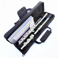 Top Japan YF-471 Flute 16 Hole with E Key YF-271 Silver Plated Flute C Key White Copper Flauta Transversal Music Instrumentos