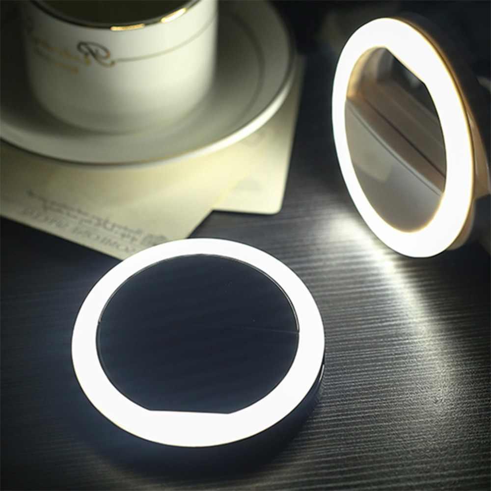 אוניברסלי Selfie LED טבעת פלאש אור נייד נייד טלפון 36 נוריות Selfie מנורת זוהר טבעת קליפ עבור iPhone 8 7 6 בתוספת Samsung
