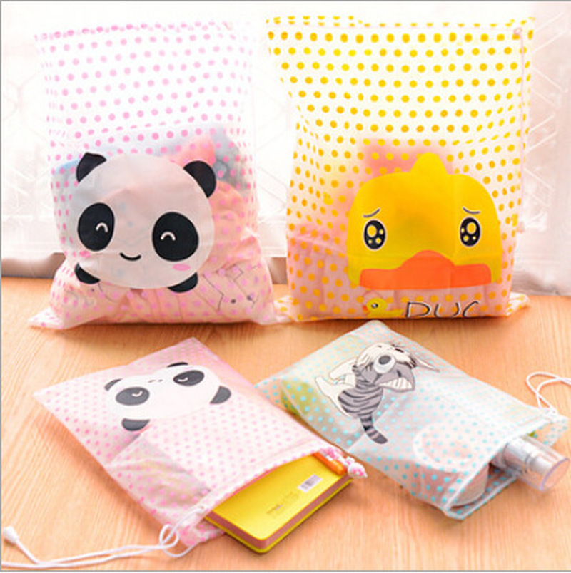 1Pcs Waterproof Panda Swimming Bag Swimsuit Organizer Underwear Bra Packing For Travel Makeup Organizer Cloth Storage Box