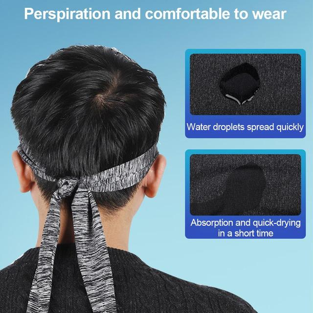 Sport Sweat Headband Breathable Comfortable Ice Silk Sweat Belt Outdoor Equipment Running Cycling Yoga 5