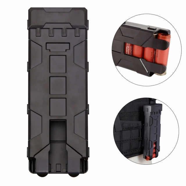 Military Reload Shotgun Equipment Magazine Pouch 10 Rounds 12GA 12 Gauge Ammo Shells Molle Box Functional Box Gun Accessories|Holsters| |  - title=