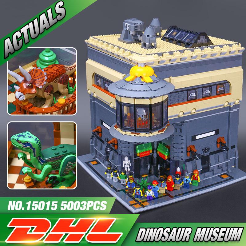DHL 15015 Pcs 5003 da Rua da Cidade de Rua O Museu Dos Dinossauros Modelo Kit de Construção De Blocos brinquedos educativos para Crianças presentes de Aniversário