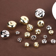 50 pcs Cross Bell Open Iron Bells Water-plated Multi-size Gold and Silver Wholesale