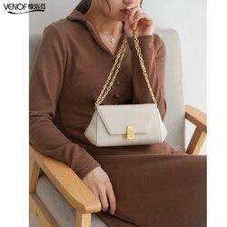 VENOF 2020 модная женская сумка через плечо из спилка, маленькая однотонная сумка через плечо с цепочкой, женская сумка-мессенджер, роскошная бр...