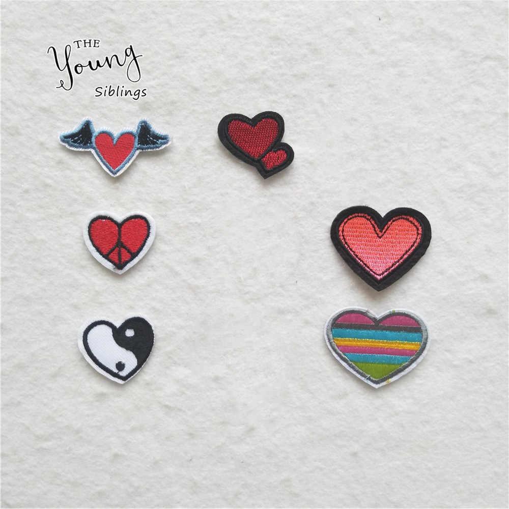 Kualitas Tinggi Hati Cinta Lucu Stiker Pakaian Aksesoris
