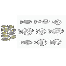 Collection Of Aquarium Fish Paper Cut Metal Craft Dies Card Making Stencils Diy Manual Scrapbooking New Embossing Dies 2021