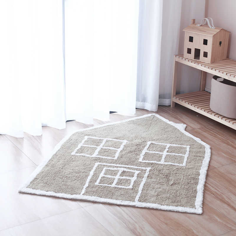 Nordic Kids Carpet Tummy Time Baby Play Mat Macrame Playmat Baby Gym Activity Mats Rug Toys Tapete Infantil for Baby Room Decor,Gray