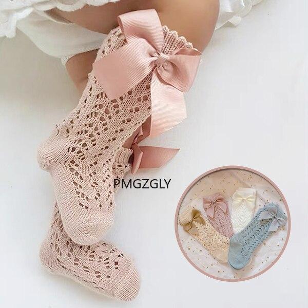 Skarpety dziewczęce maluch kokardka dla dzieci siatka bawełniana oddychające skarpety noworodek antypoślizgowe skarpetki dla niemowląt 0-3 lata tanie rzeczy