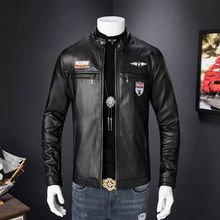 Men Leather Suede Jacket Fashion Autumn Motorcycle Vintage PU Leather Male Winter Bomber Jackets Outerwear Zip Faux Leather Coat