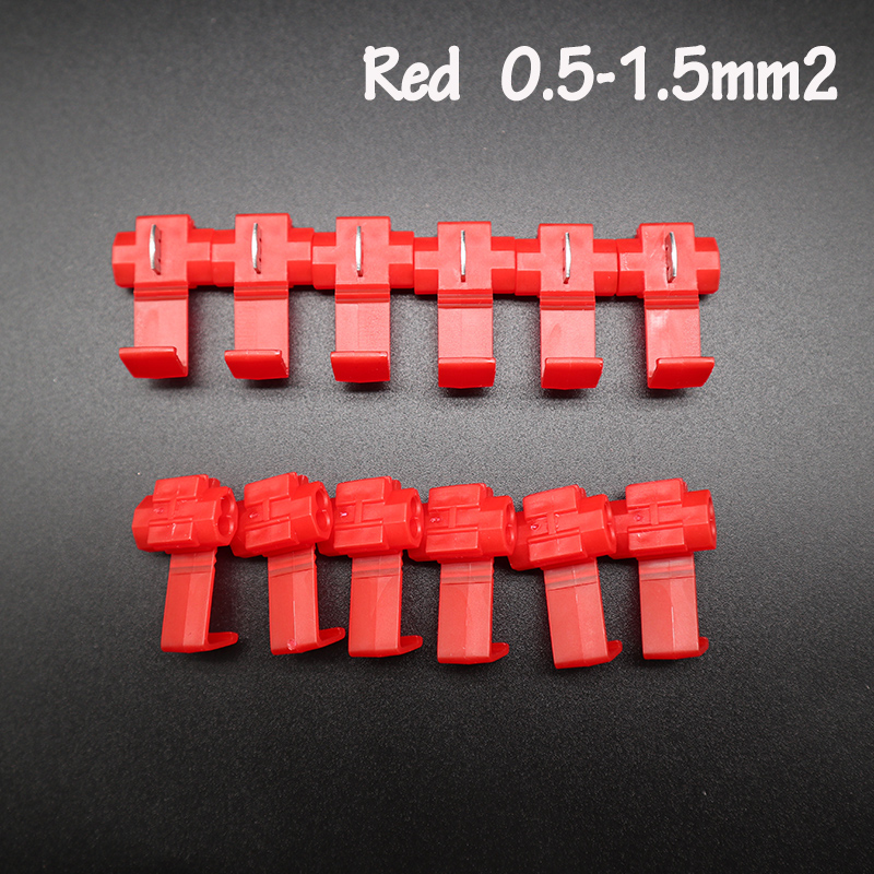 Red 22 18 AWG  Scotch Lock Wire Electrical Cable Connectors  Insulated Quick Splice Terminals Crimp For Car Electrical Cable|Terminals|   - AliExpress