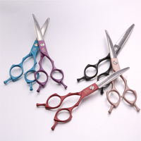 fenice-professional-symetrical-handle-colorful-65-inch-pet-dog-curved-animal-grooming-scissors