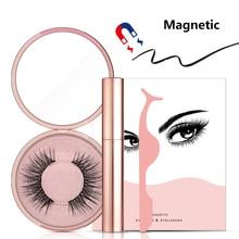 Магнитная подводка для глаз набор ресниц натуральный густой ручной работы без клея предотвращает аллергию Магнитные поддельные ресницы с аппликатором для ресниц