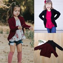 Toddler Baby Kid Girls Boys Solid Sweater Knit Warm Coat Cardigan Jacket Clothes veste enfant fille baby girl winter clothes new