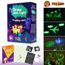 Горячая Распродажа, флуоресцентная доска для рисования, светильник, забавная и развивающая игрушка, обучающая волшебная доска для рисования, подарок для детей, новая белая доска