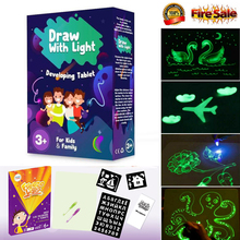Купить с кэшбэком 2019 HOT Fluorescent Drawing Board Draw With Light Fun And Developing Toy Educational Magic Draw Gift Kids New Whiteboard