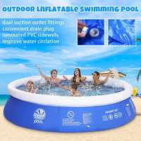 NEW Summer PVC Portable Swim Family Play Pool Water Sports Baby Kids Inflatable Swimming Pool Children Bath Tub Kids toy