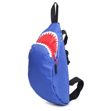 New Shark Small Chest Bag Boys and Girls Students Leisure Crossbody Messenger bag  Sling Shoulder Bag Cute Travel Back Pack aoking new fashion lightweight leisure crossbody bag for men travel messenger shoulder bag sling bag with reflective strip