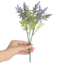 Sztuczne kwiaty 15 głów lawenda sztuczne kwiaty biuro sztuczne kwiaty bukiet ślubny wesele dekoracje domu Drop Ship 2021 tanie tanio CN (pochodzenie) Lavender Fake flowers Kwiat Oddział Party Z tworzywa sztucznego flores artificiales flores artificiales para decoracion hogar