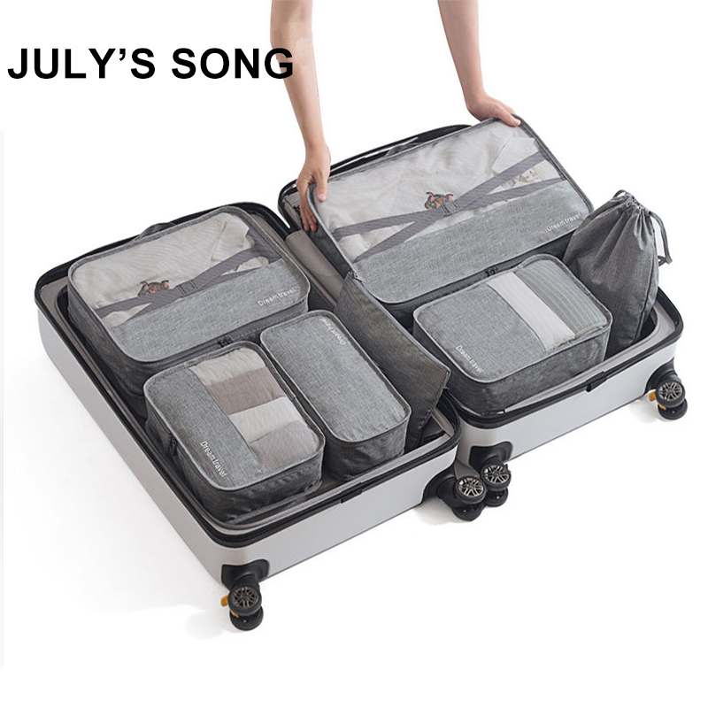 Luggage Organizer Bag-Accessories Packing-Cube Travel-Bag-Sets Dropship Women Case Waterproof