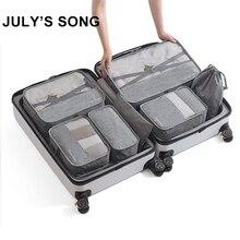 7 sztuk/zestaw mężczyźni torby podróżne zestawy wodoodporne opakowanie Cube przenośne ubrania sortuj Case kobiety Organizer bagażu akcesoria do toreb dropship