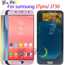 AMOLED LCD For Samsung Galaxy J7 Pro Display J7 2017 J730F LCD For Samsung J730 LCD Touch screen Assembly with front glue(China)