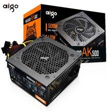 Aigo ak500 PFC 500 W max Watt Fonte De Alimentação PC Gaming Silencioso Ventilador 120 milímetros 12V PSU ATX 24pin Desktop do computador da fonte de Alimentação para pc