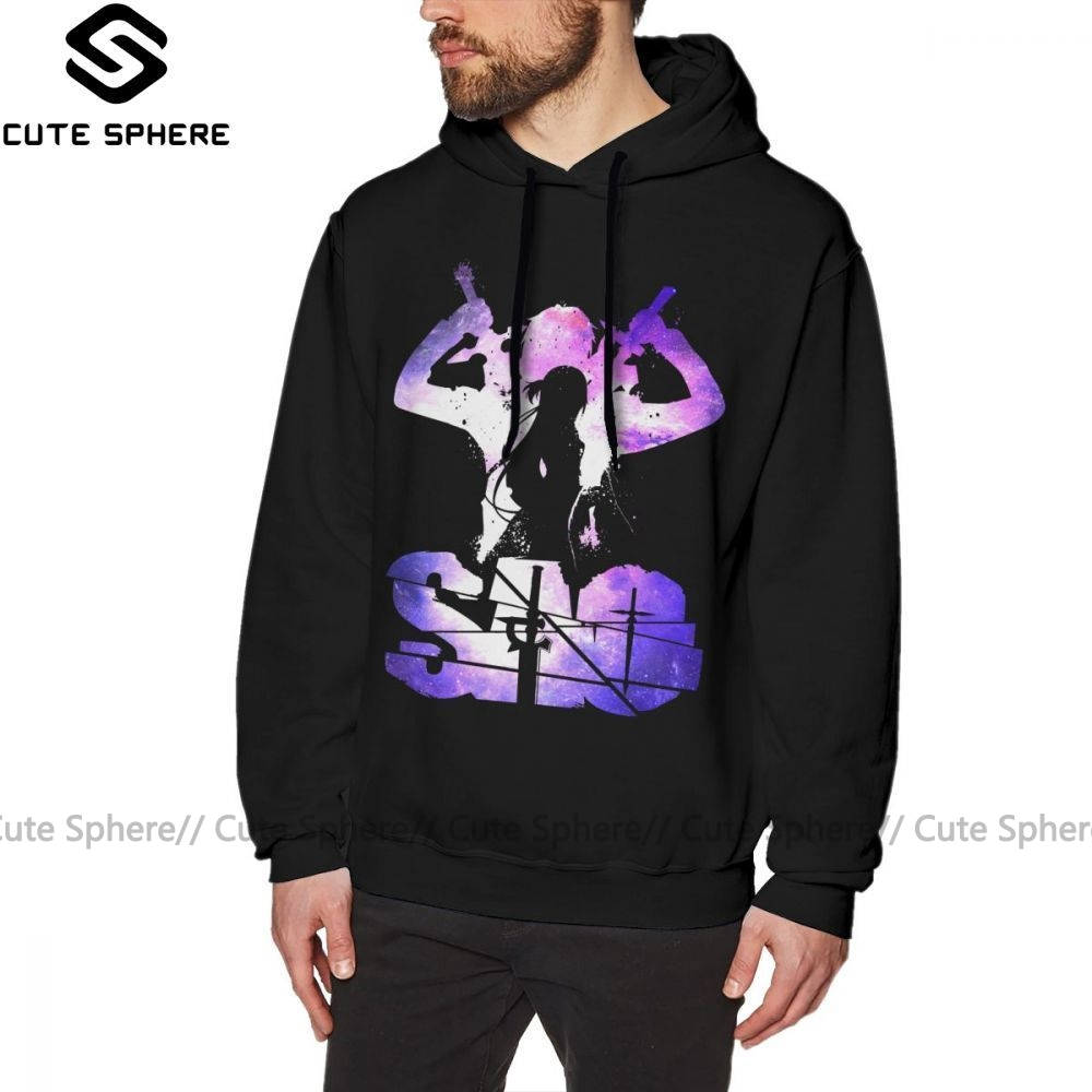 Anime SAO GGO Sword Art Online Man Cool Pullover Hoodie Jumper Sweatshirt
