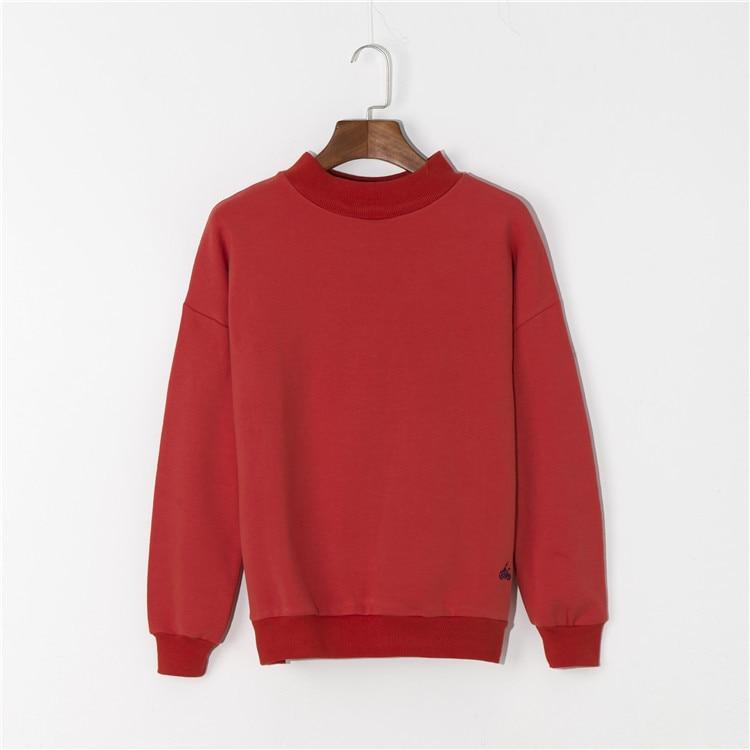 2018 NEW Winter Women Hoodies Sweatshirt RED/WHITE Casual Long Sleeve Slim Pullovers