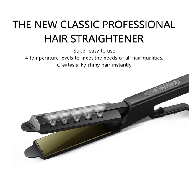 Hair Straightener Four gear Temperature Adjustment Ceramic Tourmaline Widen Panel Women Hair Straightener Flat Iron Hair