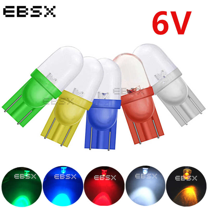EBSX 100pcs T10 6V 194 #555 Pinball Tail Led Lights 6.3V No-Anti Ghosting For Bally Pinball Game Machine White Red Blue Yellow