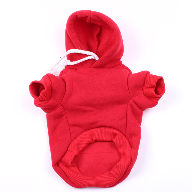 Solid Dog Pet Hoodie Sweater Cat Puppy Coat Jacket Autumn/Winter Clothes Apparel for Dogs Cats Small Medium