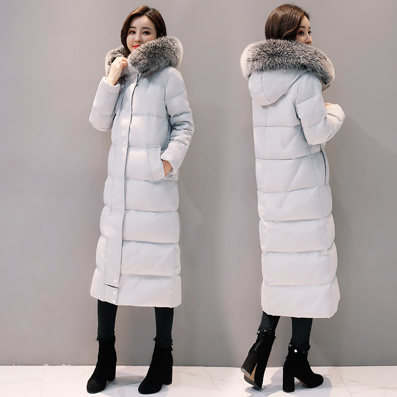 Large Fur Collar Winter Down Jacket Woman Hooded Long Coats And Jackets Women Clothes 2020 Parka Abrigos Mujer KJ442