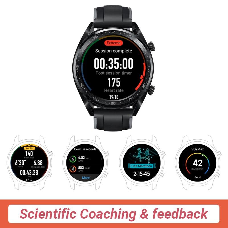 En Stock Version mondiale HUAWEI montre GT montre intelligente 1.39 ''écran AMOLED 14 jours d'autonomie 5ATM étanche traqueur de fréquence cardiaque - 2