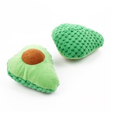 Funny Pet Playing Toy Scratch-resistant Soft Plush Cute Fruit-shaped Interactive Cat Play Bite Toys