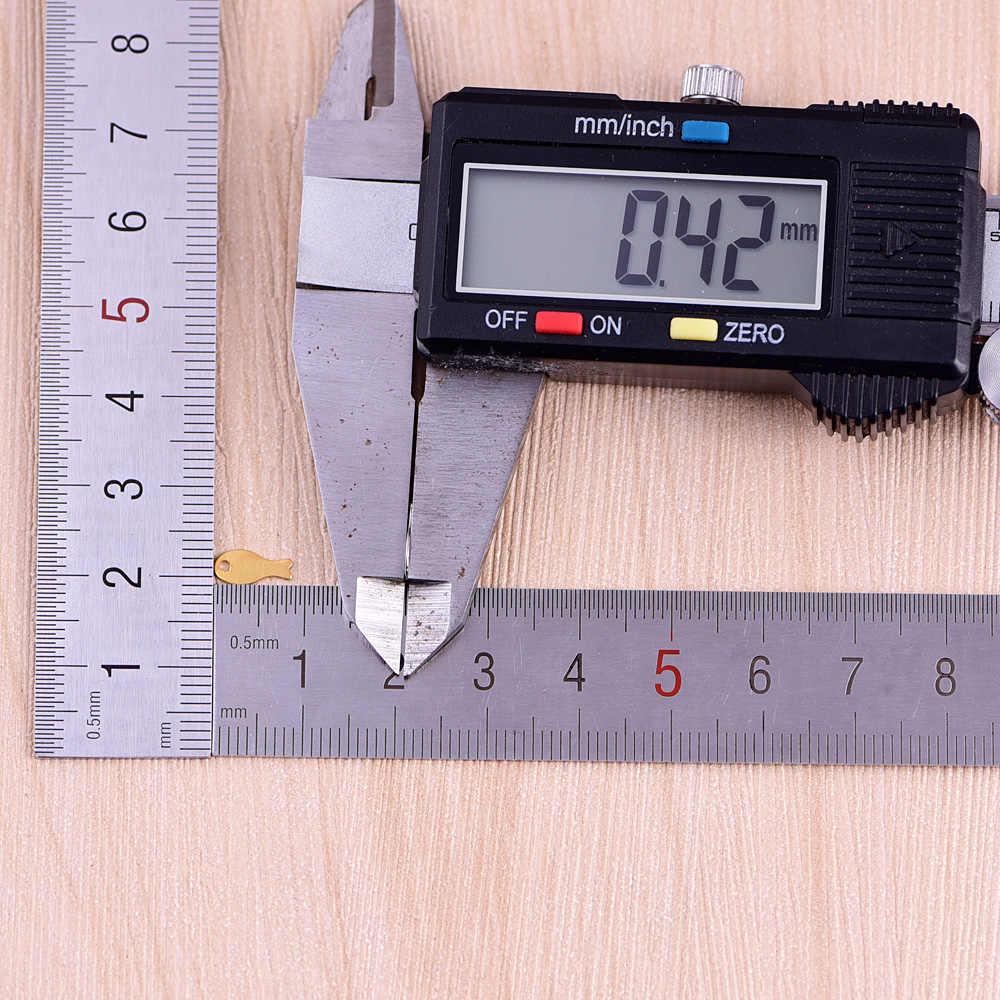9*4mm 10 adet bakır oyuncak balık şekli uğurlu takı aerodinamik oval kolye takı el yapımı DIY aksesuarları küpe nracelet