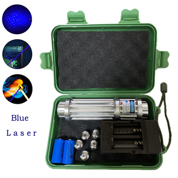 Blue High Power Laser Light Burning laser Outdoor Operation Signal Light Burning Match/dry Wood/lit Candle/Burn Cigarettes high power lazer military blue laser pointers 80000m 450nm burning match dry wood candle black burn cigarettes glasses gift box